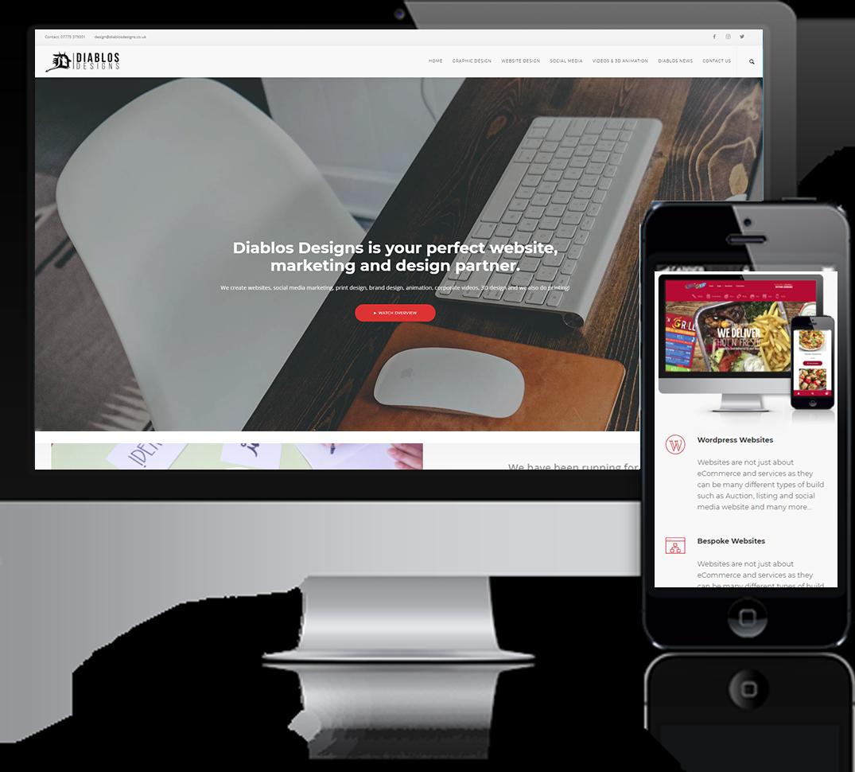 Diablos Designs Main Website Design Post