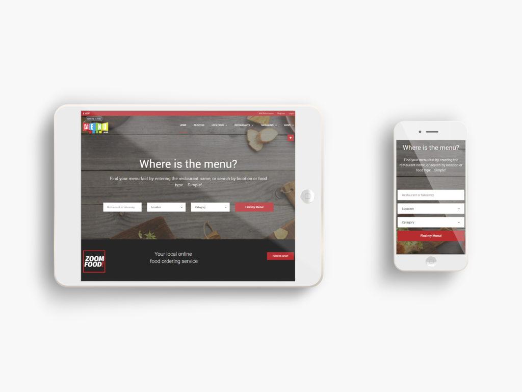 Where is the menu Website Portfolio