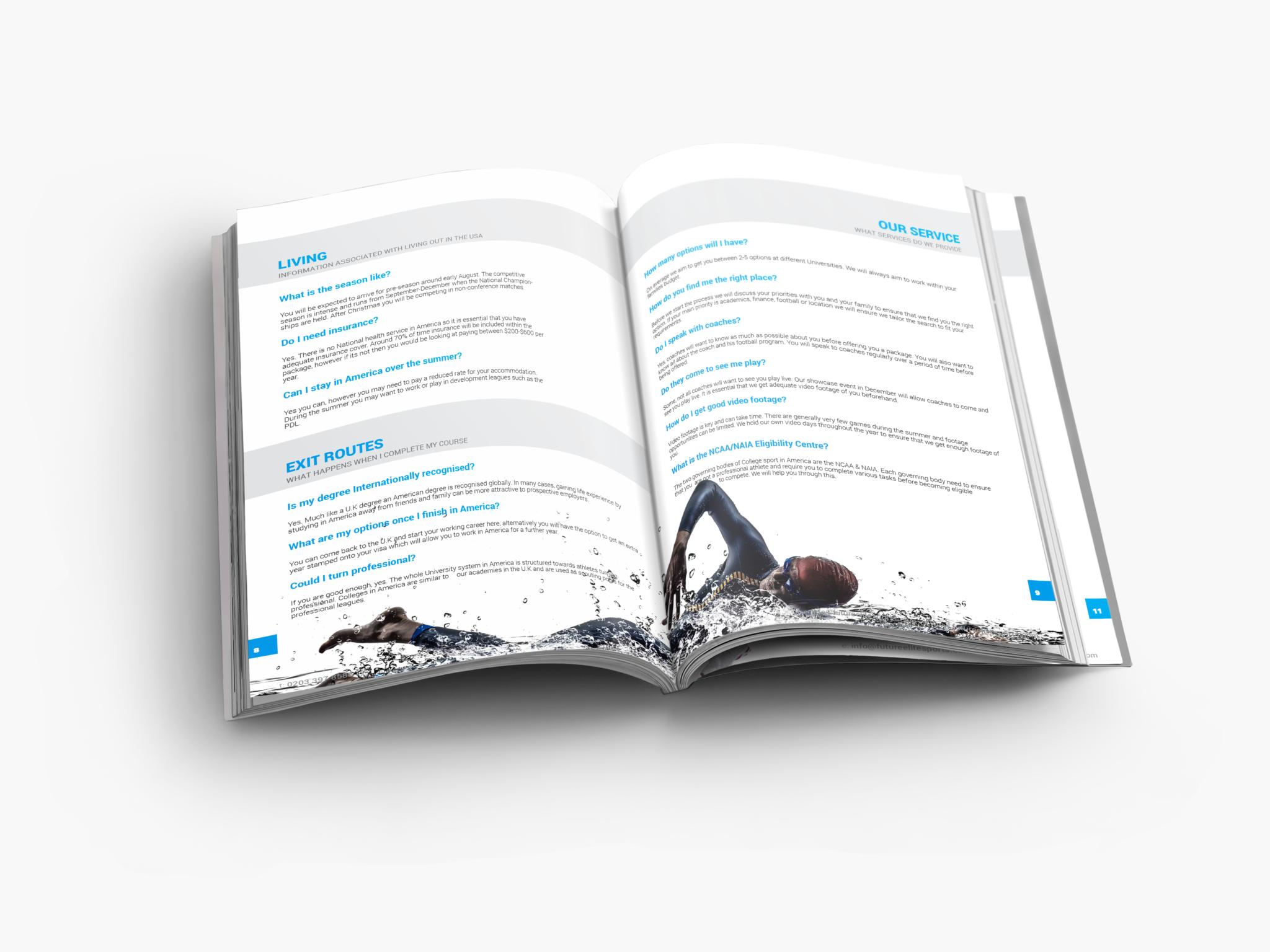 Future Elite USA Brochure page 8 and 9
