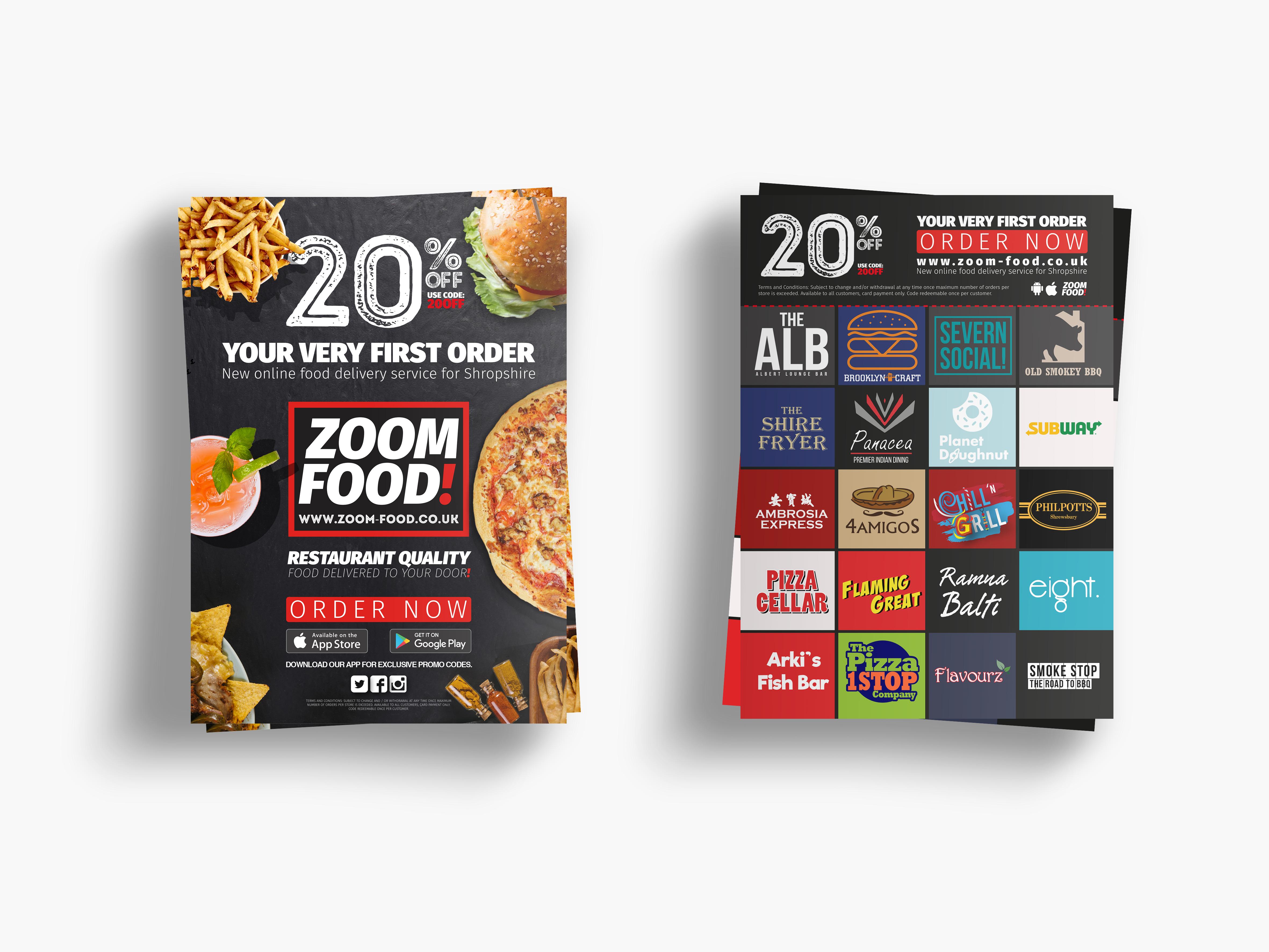Zoom Food Leaflet Designs