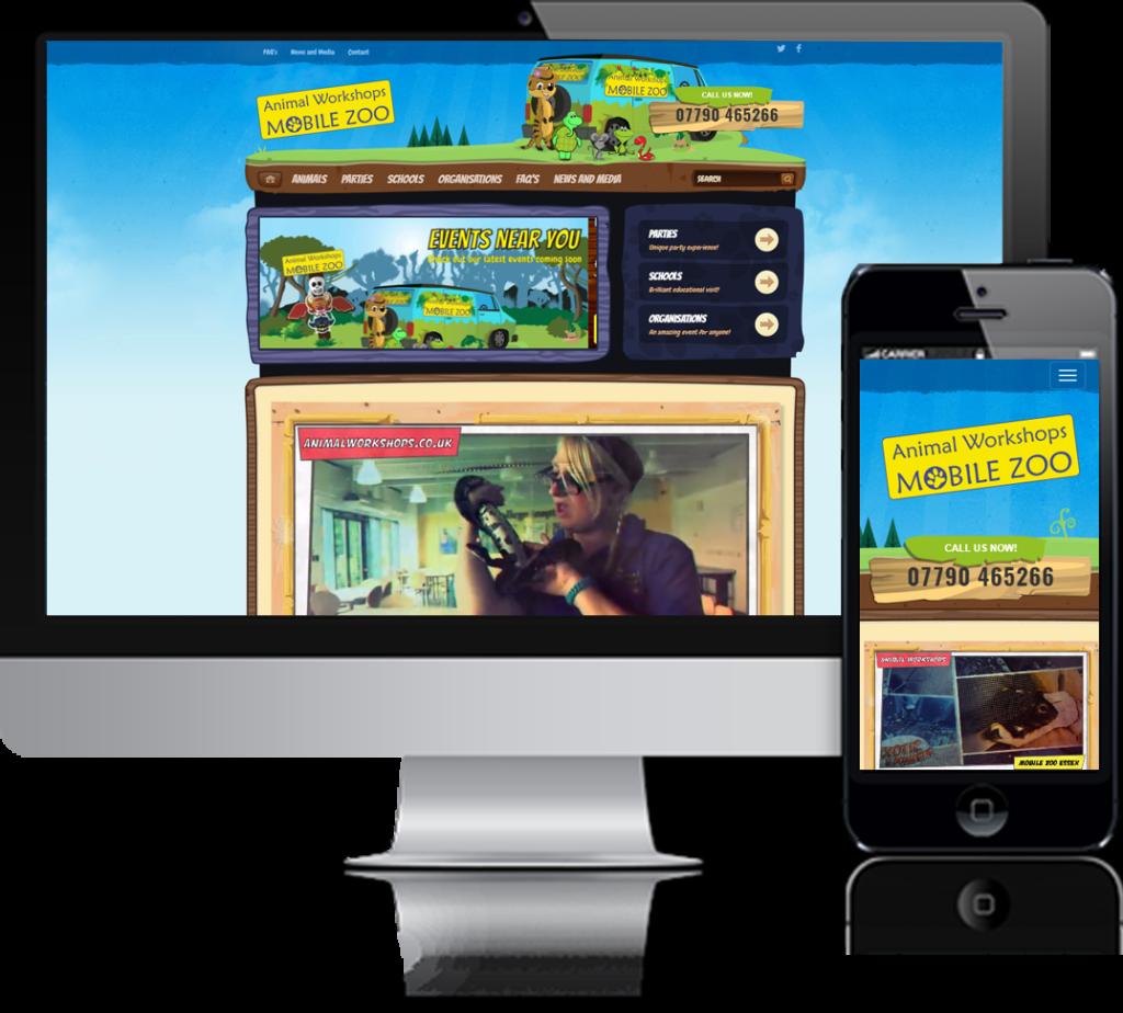 Animal Workshops Website Design